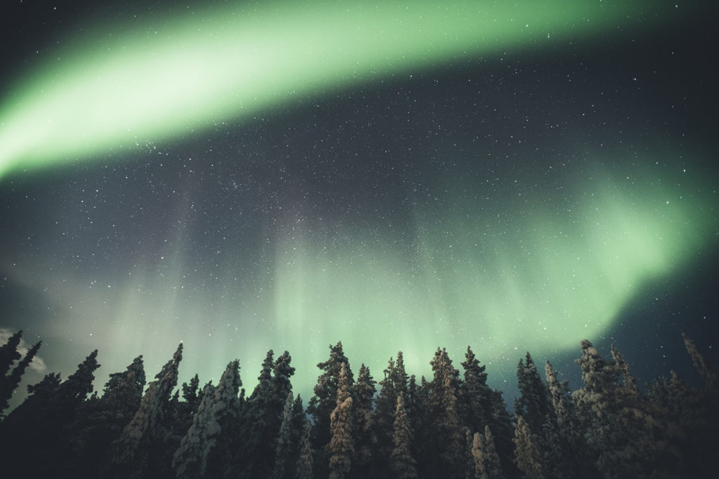 When can you see northern lights in Kiruna